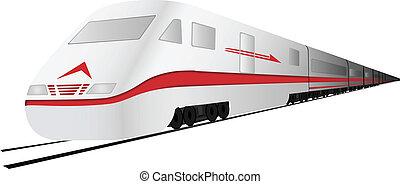 alto, treno, velocità, vettore, digiuno