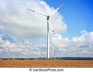 alto, turbinas vento