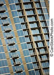 alto, urbano, edificio