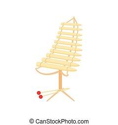 Alto xylophone icon, cartoon style