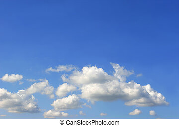 Altocumulus Clouds - Alto cumulus clouds in a blue sky