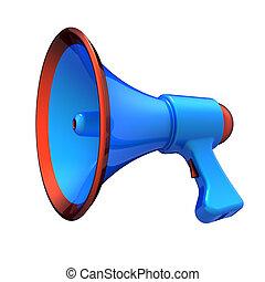 altoparlante, comunicazione, blog, bullhorn, notizie, megafono