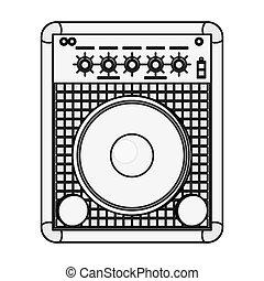 altoparlante stereo, icona