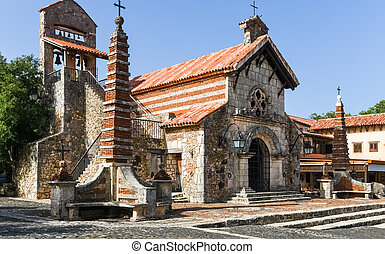 Altos de Chavon. Altos de Chavon Village in the Dominican ...