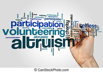 altruism, 単語, 雲