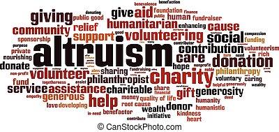 Altruism word cloud