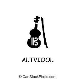 Altviool flat vector icon
