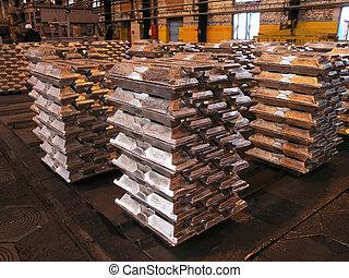 alumínio, ingots