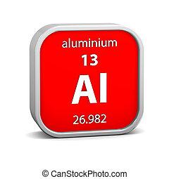 alumínio, material, sinal