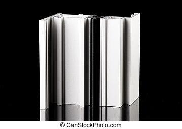 alumínio, perfil, amostra