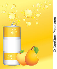 alumínium, limonádé, konzerv, gyümölcs