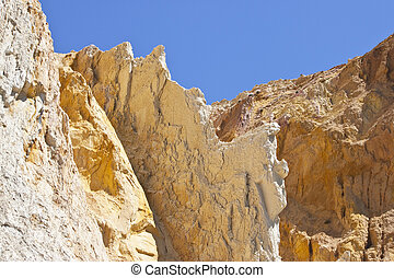 alum bay - multi-coloured sand