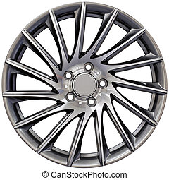 aluminio, carreras, rueda