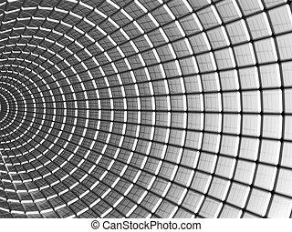 aluminio, cuadrado, patrón, resumen, plano de fondo