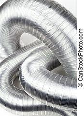 aluminium air tubes - Some aluminium air tubes on white
