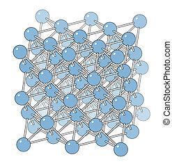 Aluminium (aluminum) metal, crystal structure.
