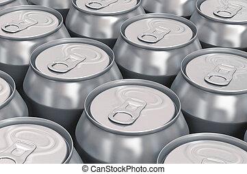 aluminium, bier, blikjes
