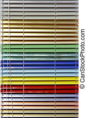 Aluminium blinds - Metallic aluminium blinds in all colors ...
