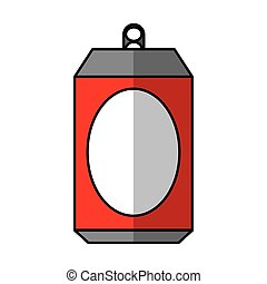 Aluminium can isolated icon
