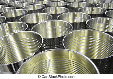 Aluminium Cans in factory warehouse