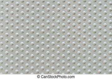 Aluminium dark list with circle shapes