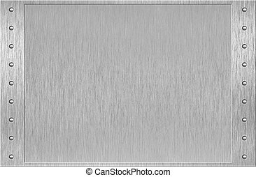 aluminium, eller, metal, ramme, hos, nitter