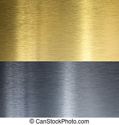 aluminium, en, messing, gestikken, texturen