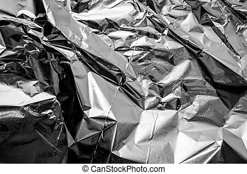 aluminium foil crumpled Silver texture abstract background