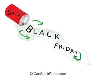 aluminium, fredag, försäljning, svart, kan, röd