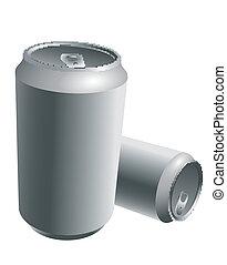 aluminium, getränk, dosen