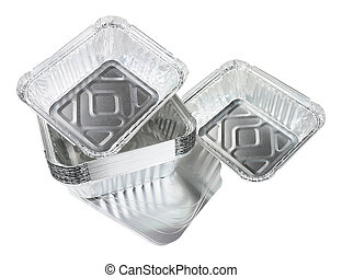 aluminium, groupe, nourriture, loin, fleuret, prendre, récipients