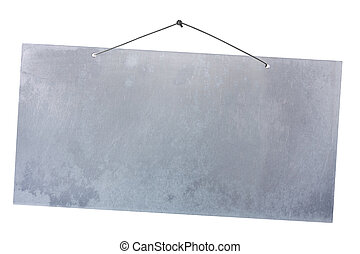 aluminium, hängande, spika, ark