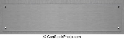 aluminium, -, illustration, signe, vide, 3d