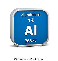 aluminium, materiaal, meldingsbord