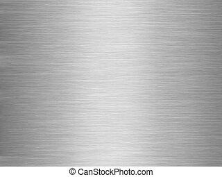 Aluminium plate background - Illuminated gray aluminium...