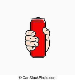 aluminium, prise, can., possession main, mâle, rouges
