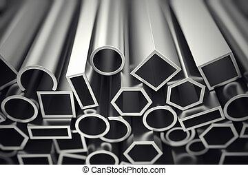 Aluminium profiles. - Aluminium profiles in different shapes...