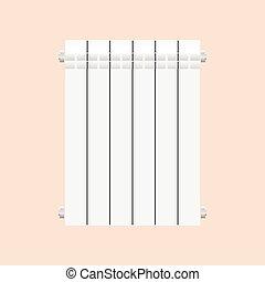 Aluminium radiator vector illustration isolated on white