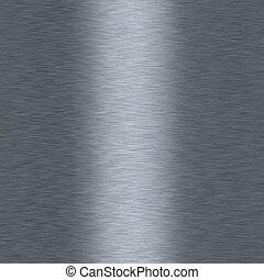 aluminium, seamless, metalic, fond, bushed, répéter