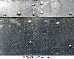 Aluminium Sheeting - 3 panels of aluminium sheet metal...
