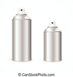 Aluminium Spray Can Template Blank. Vector