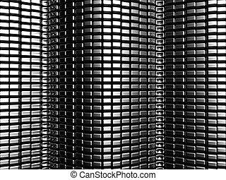 Aluminium square texture pattern background 3d illustration