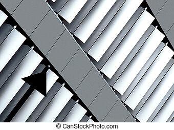 Aluminium - A part of a building in...