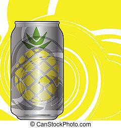aluminium, verpackung, für, getränke