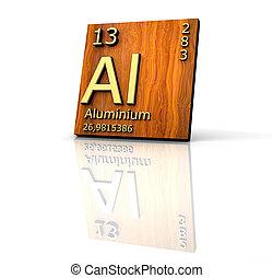 aluminium, vorm, periodieke tafel van eerste beginselen