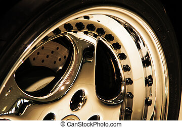 Aluminium wheel - Aluminium Sporto wheel of a racing car