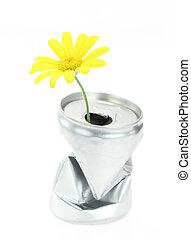aluminum απολύω , με , ακμάζω , μαργαρίτα , λουλούδι