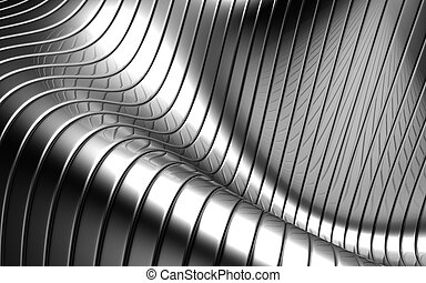 Aluminum abstract silver stripe pattern background 3d ...