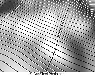 Aluminum abstract stripe background