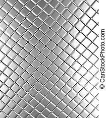 Aluminum background - Square pattern aluminum background 3d...